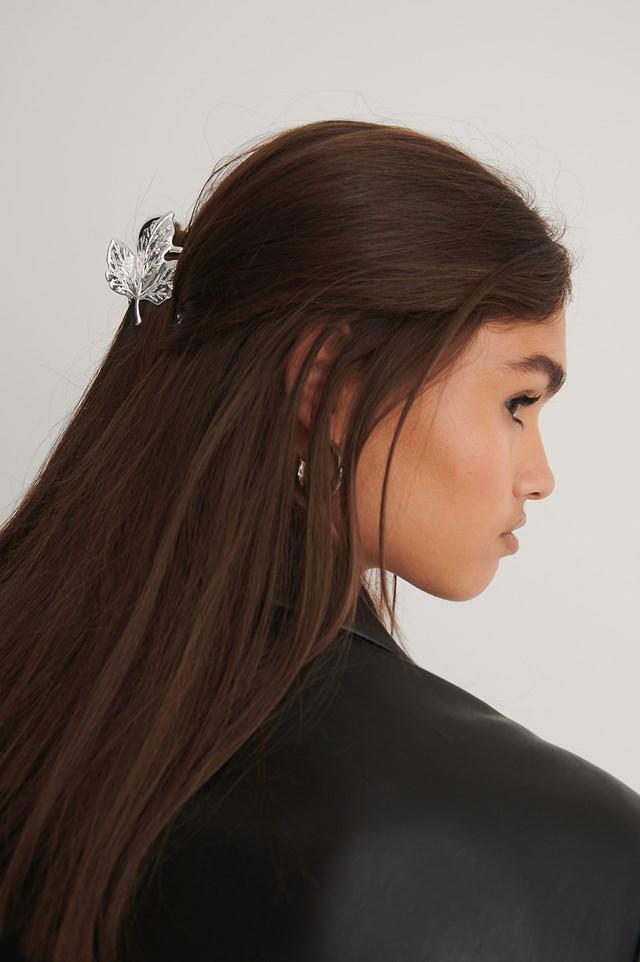 Leaf Hair Clip Silver