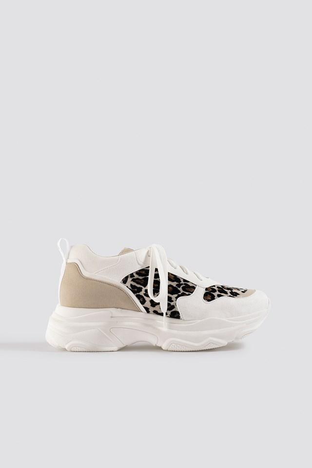 Leopard Chunky Trainers NA-KD Shoes