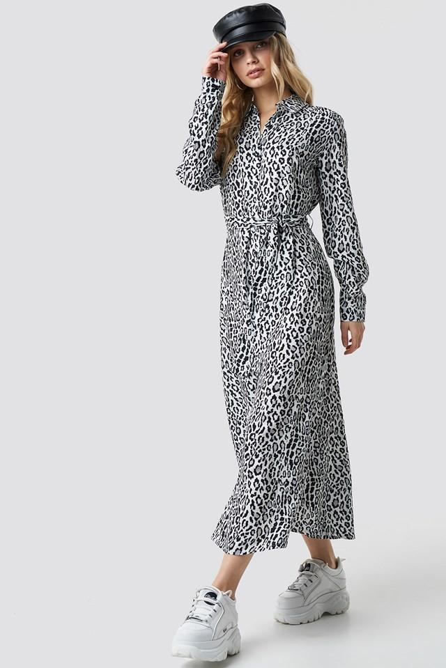 Leopard Printed Shirt Dress NA-KD
