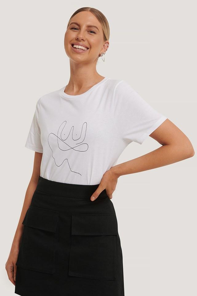 Line T-shirt Optical White