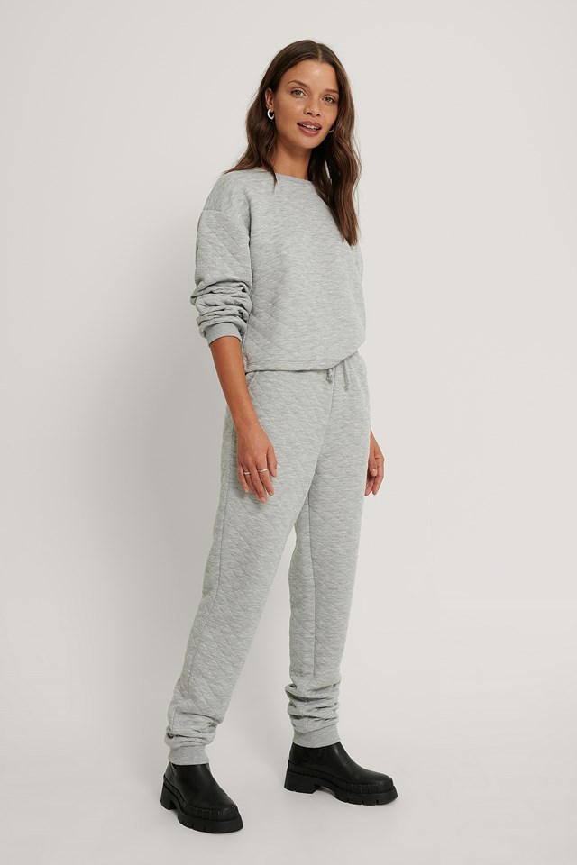 Structured Joggers Grey