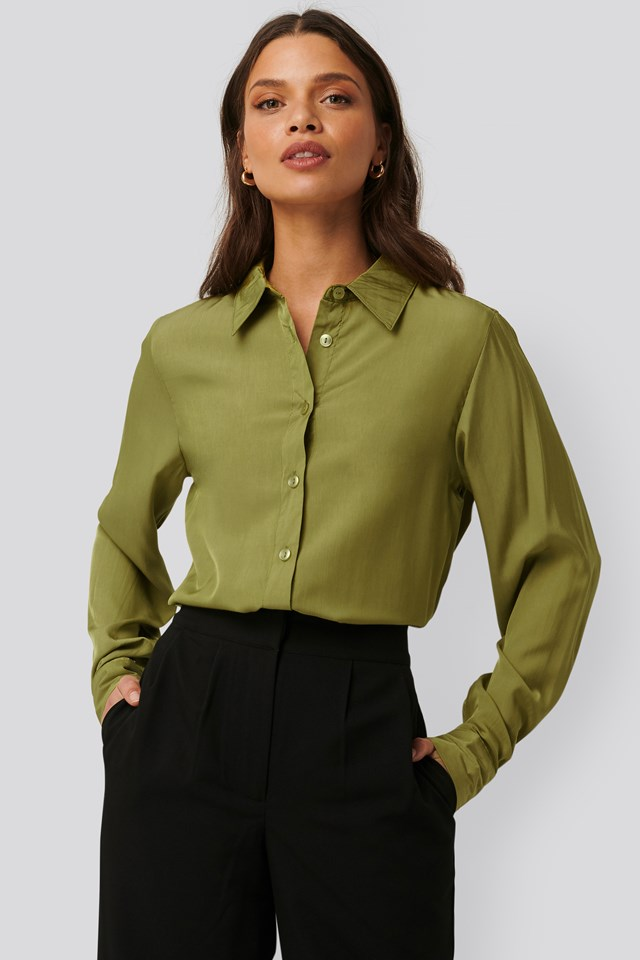 Loose Fit Blouse Green