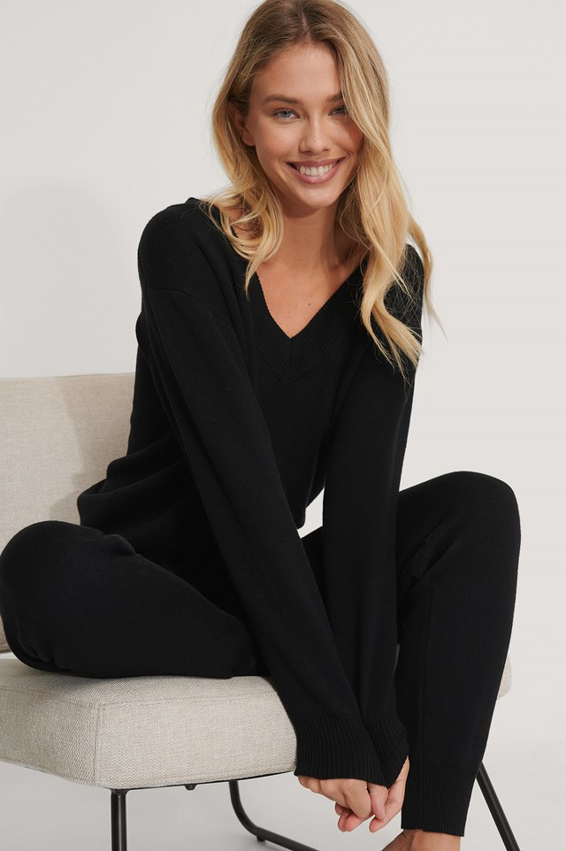 Black Lounge Sweater
