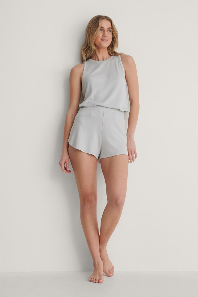Loungewear Loose Shorts Light Grey