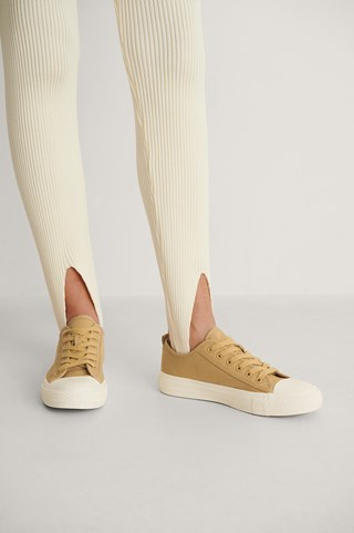 Ochre Low Lace Up Trainers