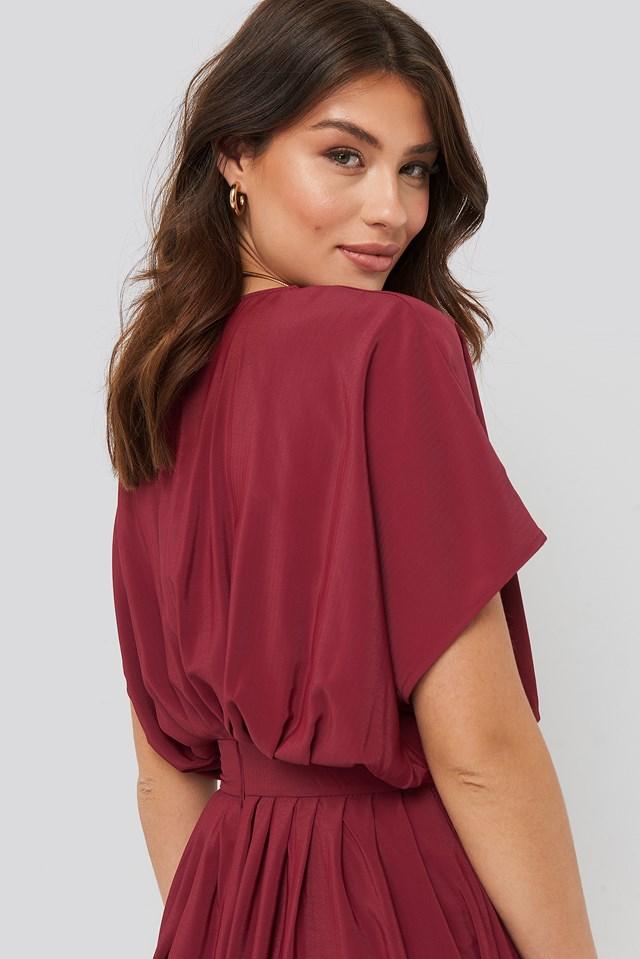 Marked Waist Dress Burgundy