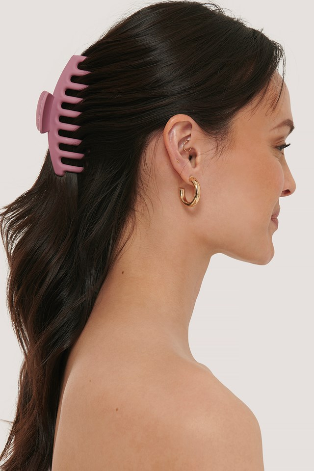 Matte Big Hairclip Pink