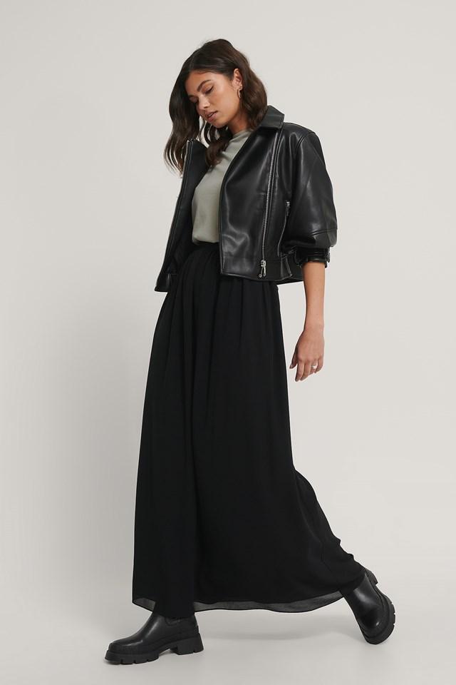 Maxi Sheer Skirt Black