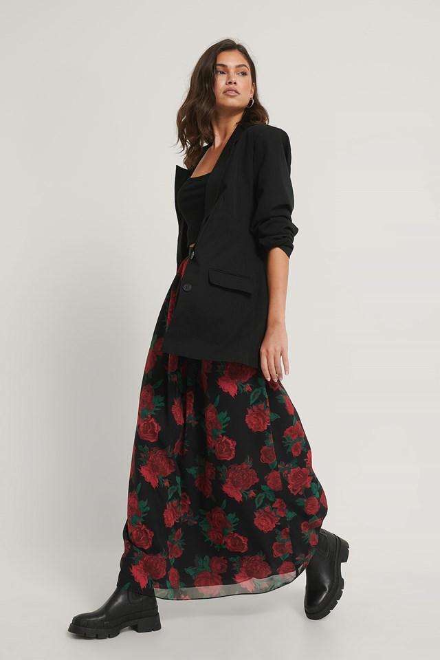 Maxi Sheer Skirt Print
