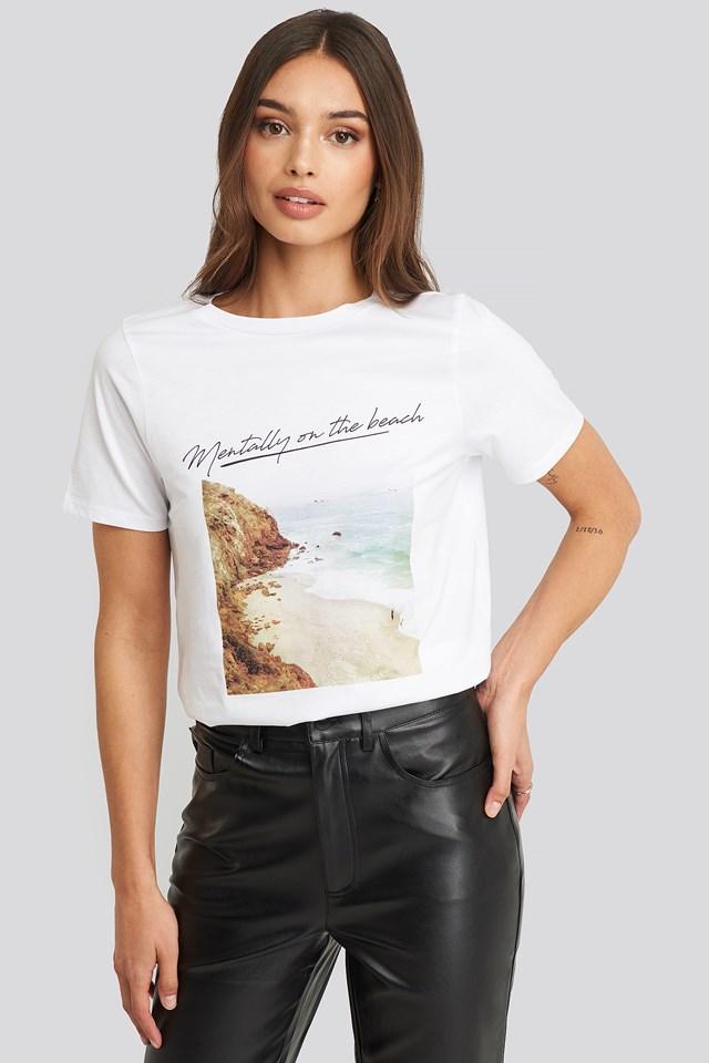 Mentally on the Beach T-shirt White