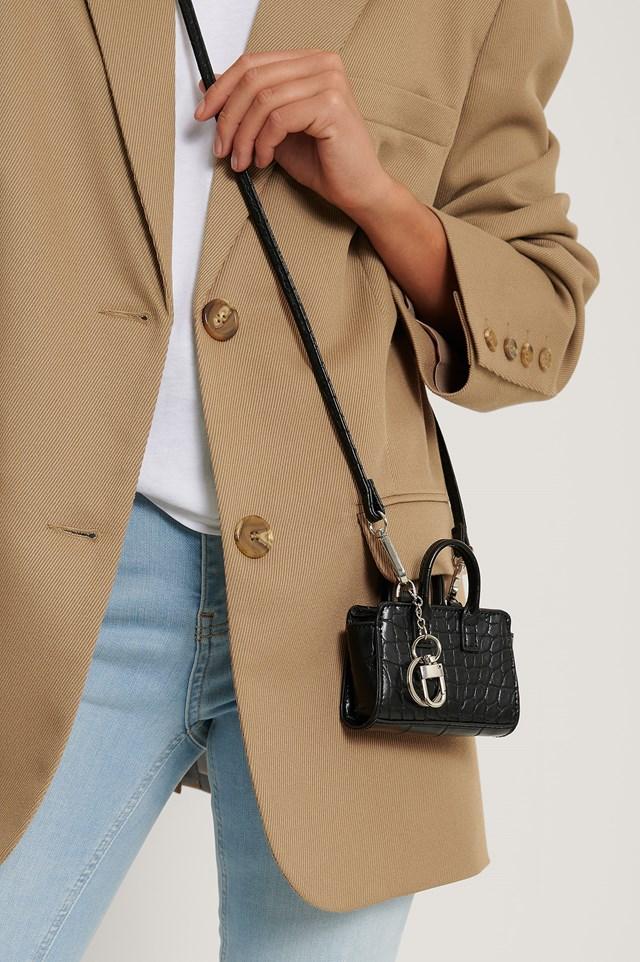 Micro Keychain Bag Black