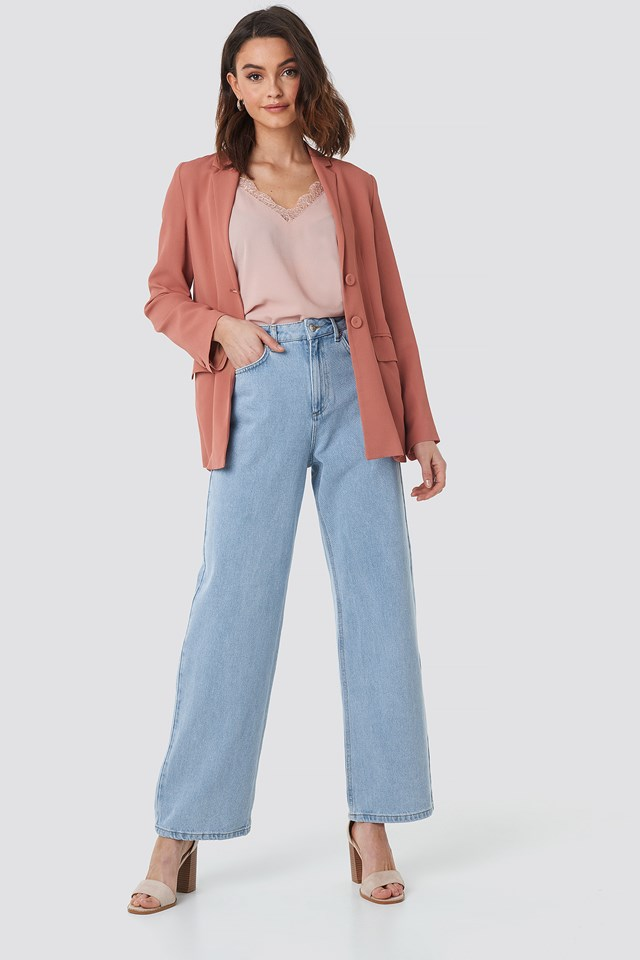 Mid Rise Relaxed Jeans NA-KD