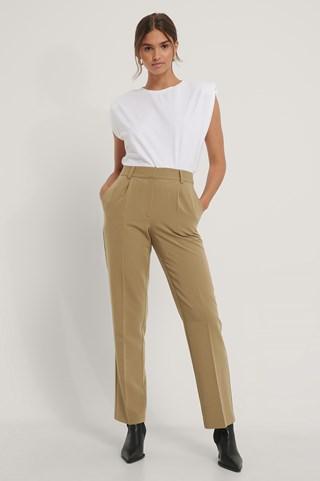 Moss Mid Rise Suit Pants