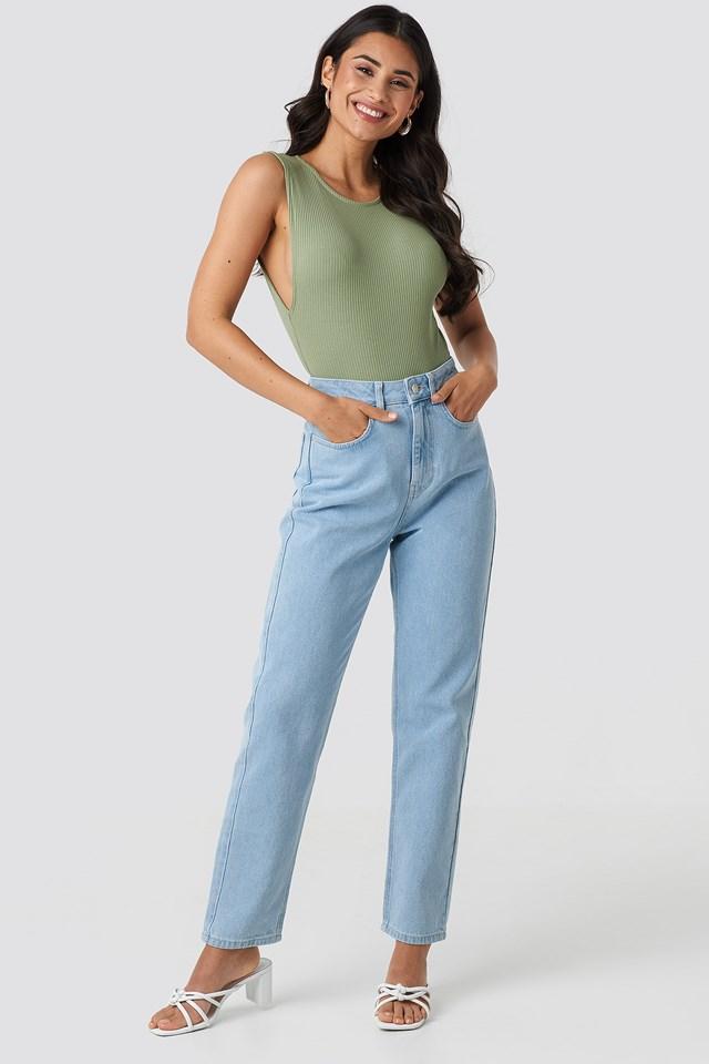 Mid Rise Vintage Fit Jeans Light Blue