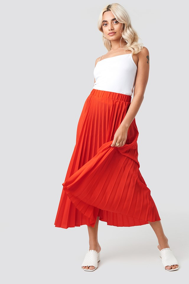 Midi Pleated Skirt NA-KD
