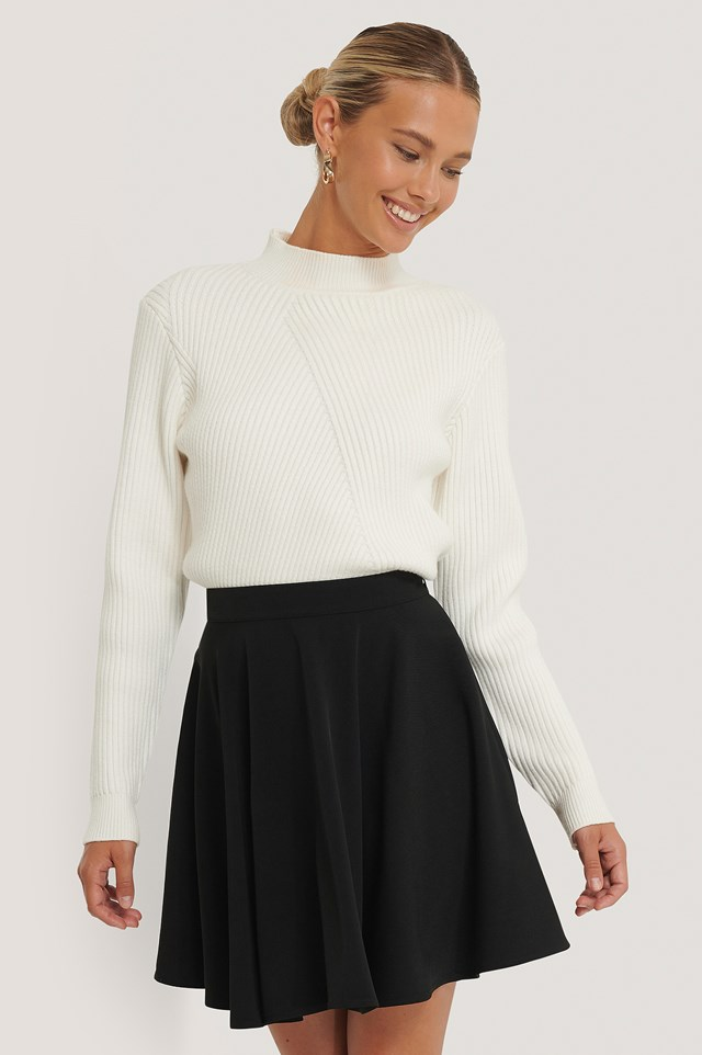 Mini Circle Skirt Black