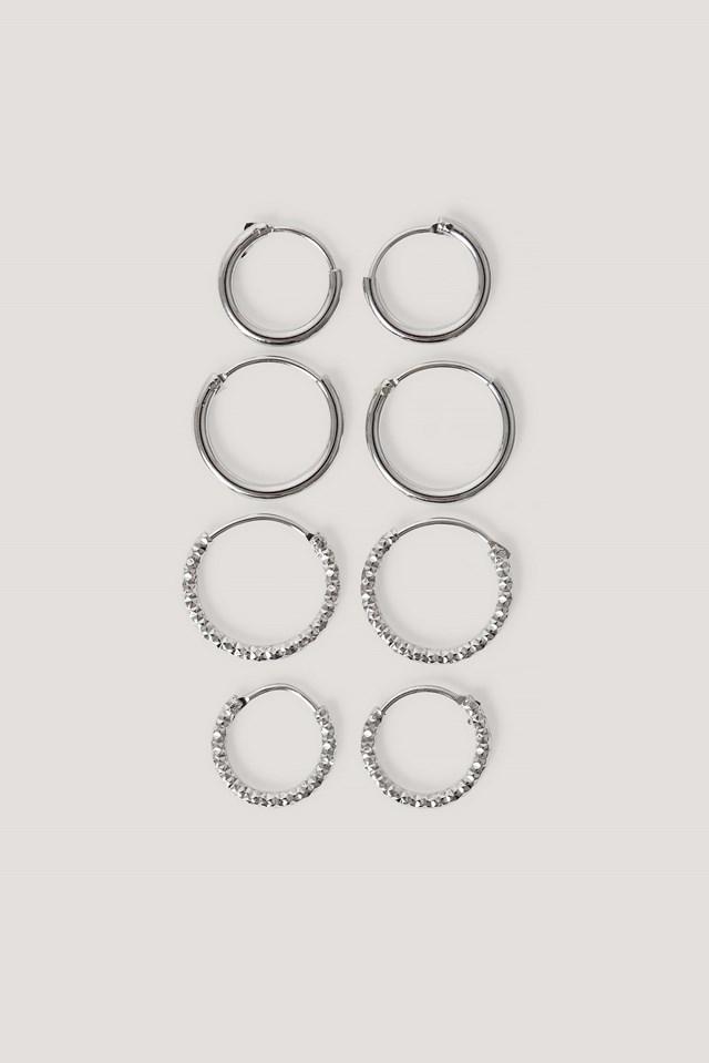 Mini Hoop Earring Set NA-KD Accessories