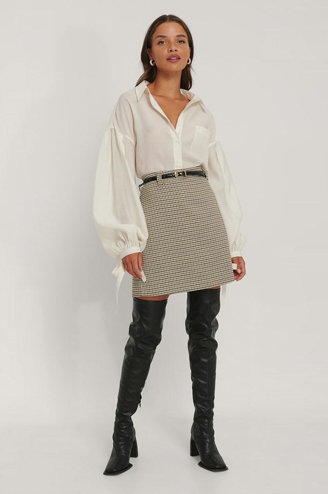 Mini Skirt Brown Check