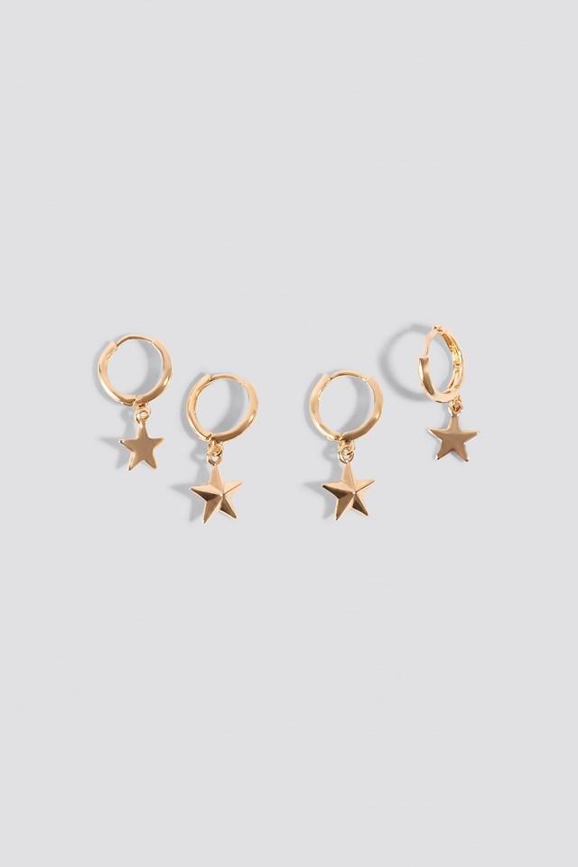 Mini Star Pendant Earrings (2-pack) NA-KD Accessories
