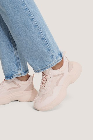 Pink Mixed Upper Trainers