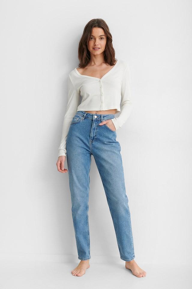 Mom Jeans Tall Light Blue