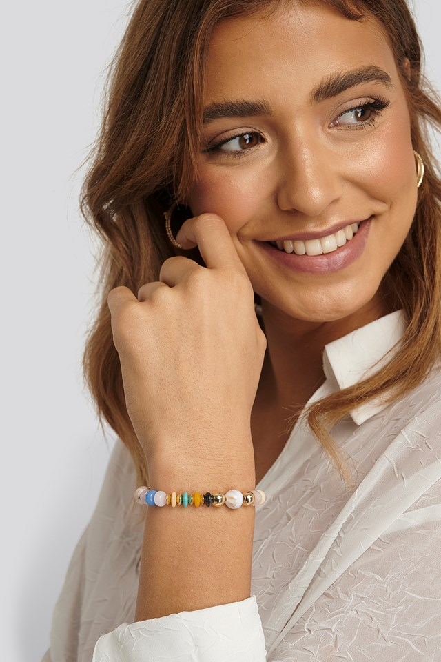 Muli-Color Bead Bracelet Multi