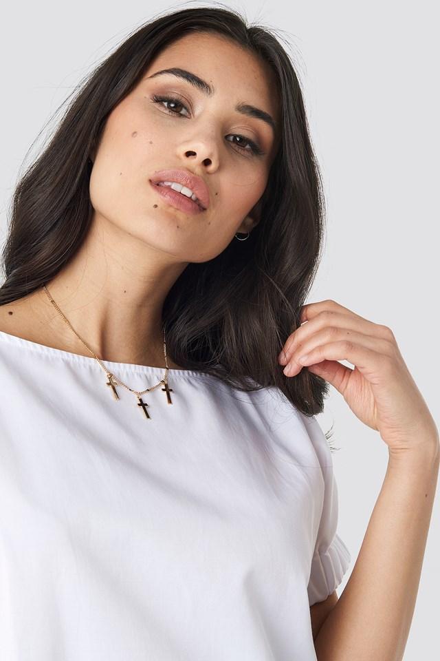 Multi Mini Cross Necklace NA-KD Accessories