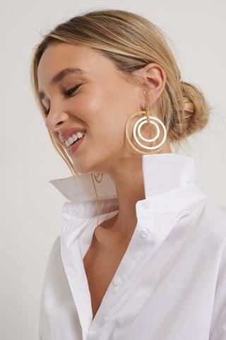 Gold Multi Ring Earrings