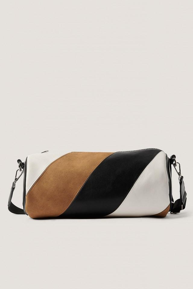 Multi Toned Barrel Bag Black/Brown