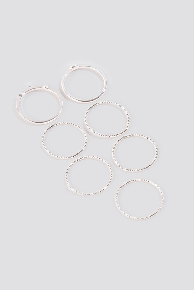 Multipack Fine Rings NA-KD Accessories