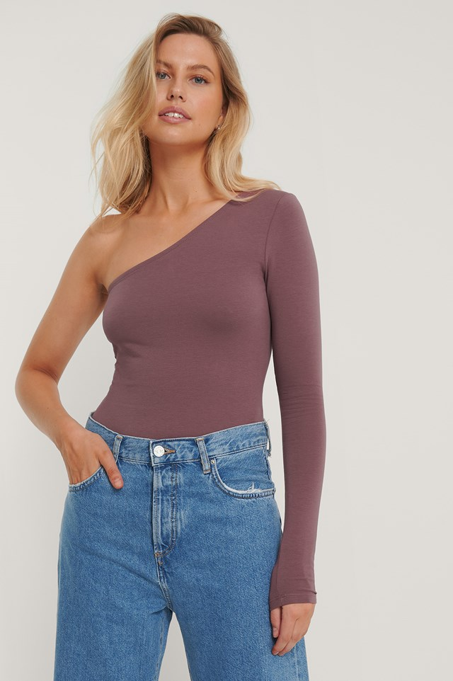 One Shoulder Body Rose Taupe