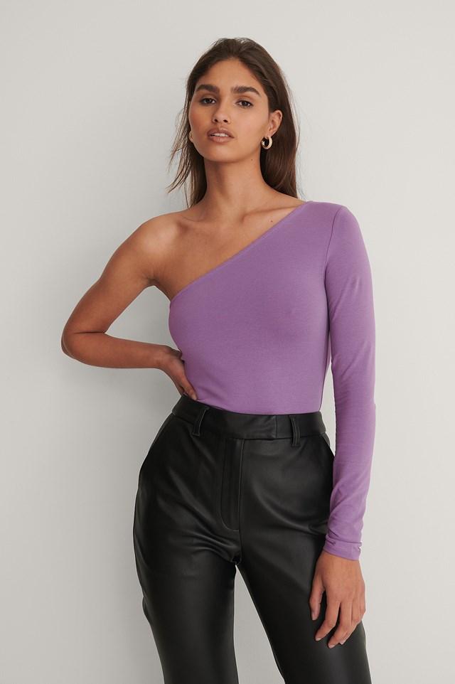 One Shoulder Top Violet
