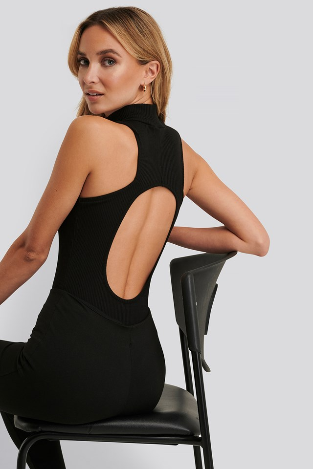 Open Back Rib Body Black