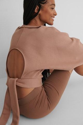 Dark Pink Organic Open Back Sweater
