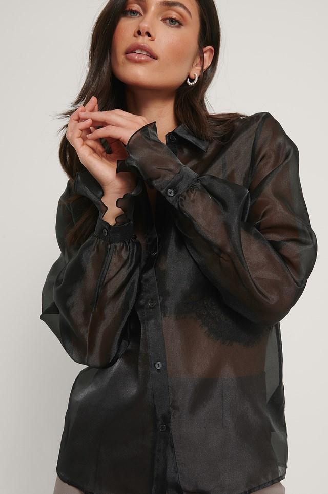 Organza Shirt Black