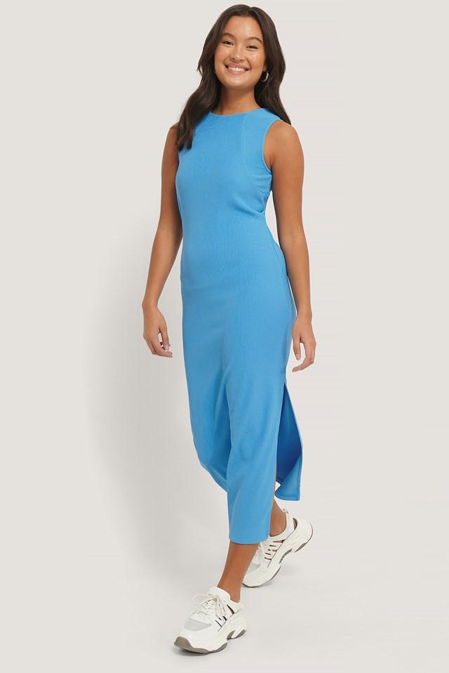 Ottoman Midi Dress Blue