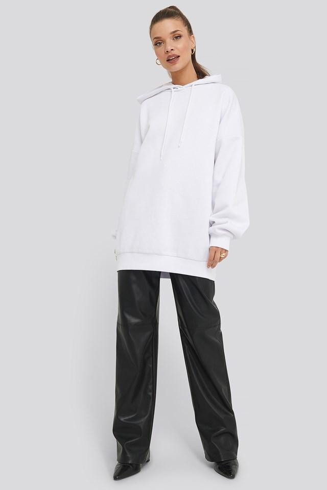 Oversized Basic Hoodie White