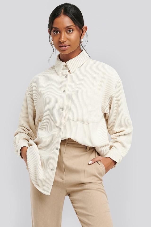 Oversized Corduroy Shirt Offwhite