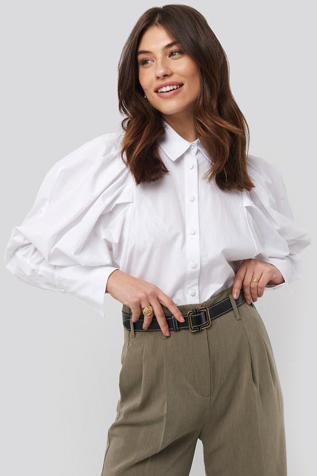 Oversized Puff Sleeve Shirt NA-KD Trend