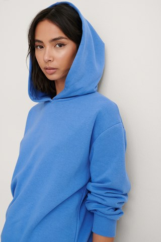 Blue Oversized Relaxed Hoodie