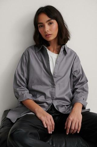 Grey Oversized Shirt