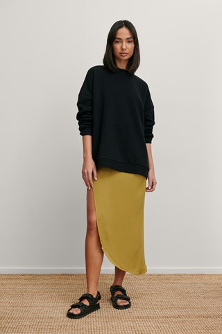 Black Organic Oversized Sweater