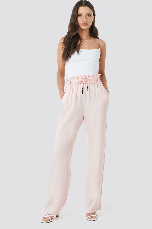 Paperbag Wide Leg Trousers NA-KD