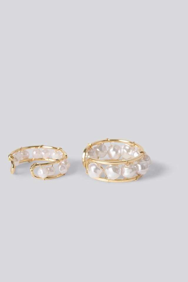 Pearl Detail Rings NA-KD Accessories