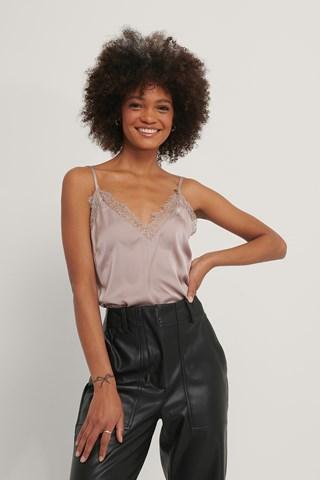 Bark Plain Lace Singlet