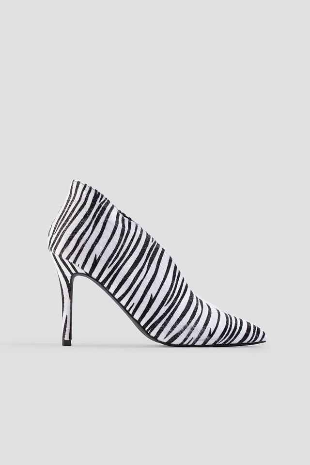 Pointy Zebra Heels NA-KD Shoes