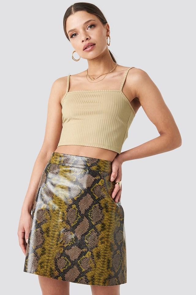 Snake Printed A Line Mini Skirt NA-KD Trend