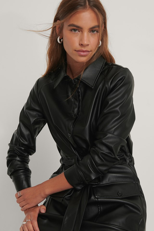 Pu Dress Black