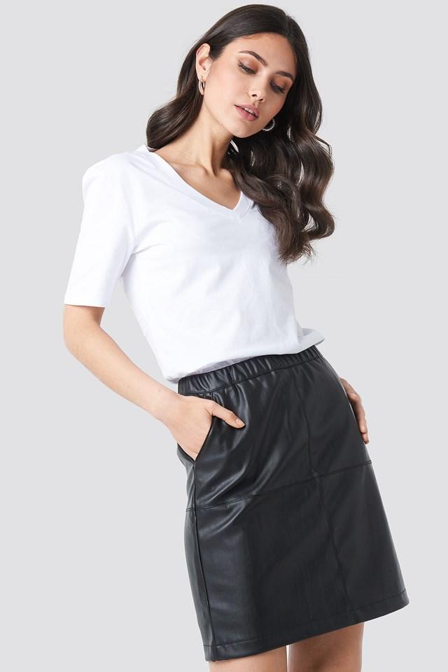 PU Zip Mini Skirt NA-KD Party