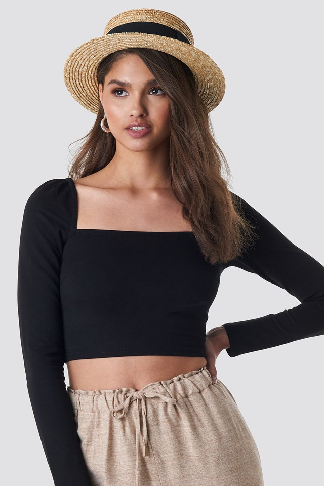 Puff Shoulder Bodycon Top NA-KD Trend